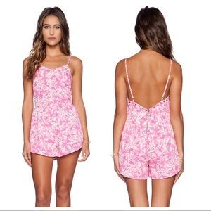 amuse society / embellished luella pink romper